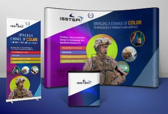 Trade Show, Corporate Collateral, Branding | B2G | ISSTSPi