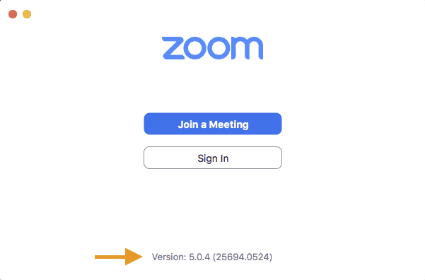 Check your zoom version for your marketing meeting