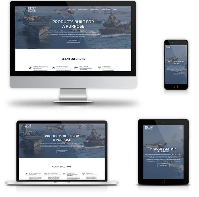 Award winning website design for government contractors