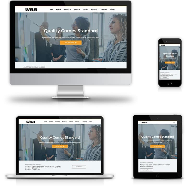 Award winning website design for government contractor solution provider